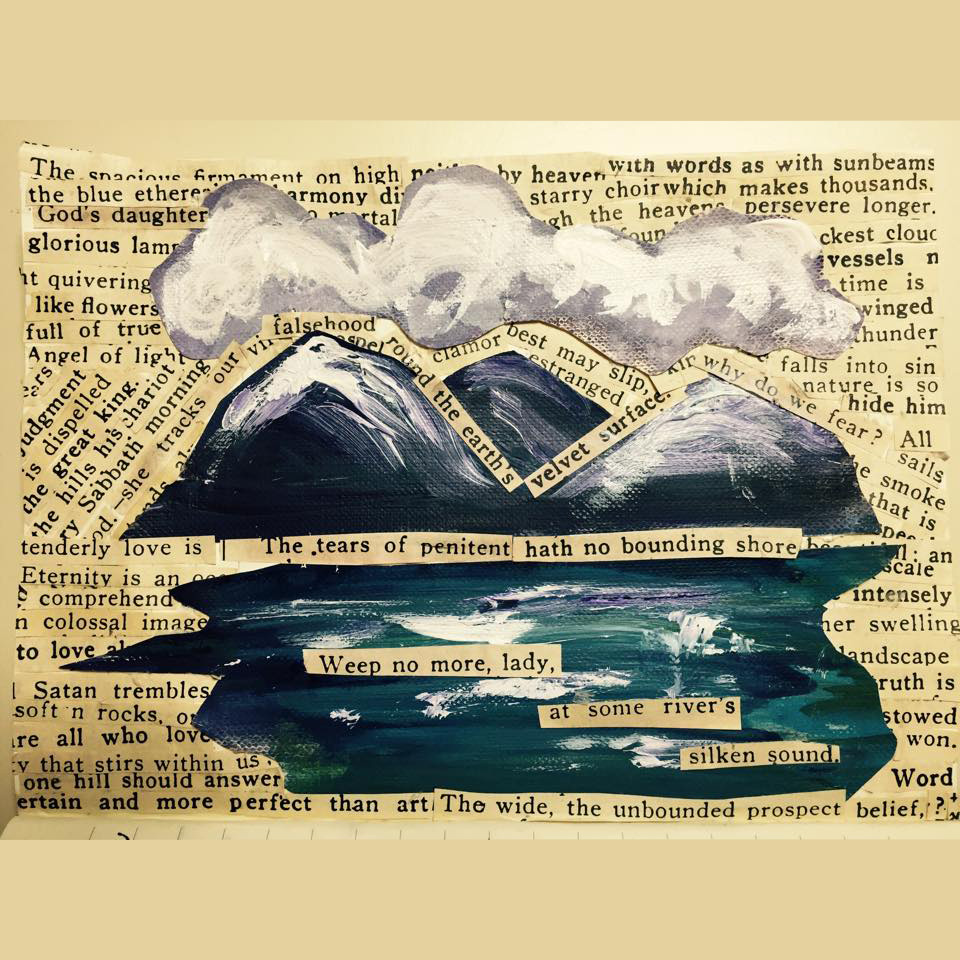 """Collage Art and Poetry, """"Weep No More"""" by Angela Josephine"""