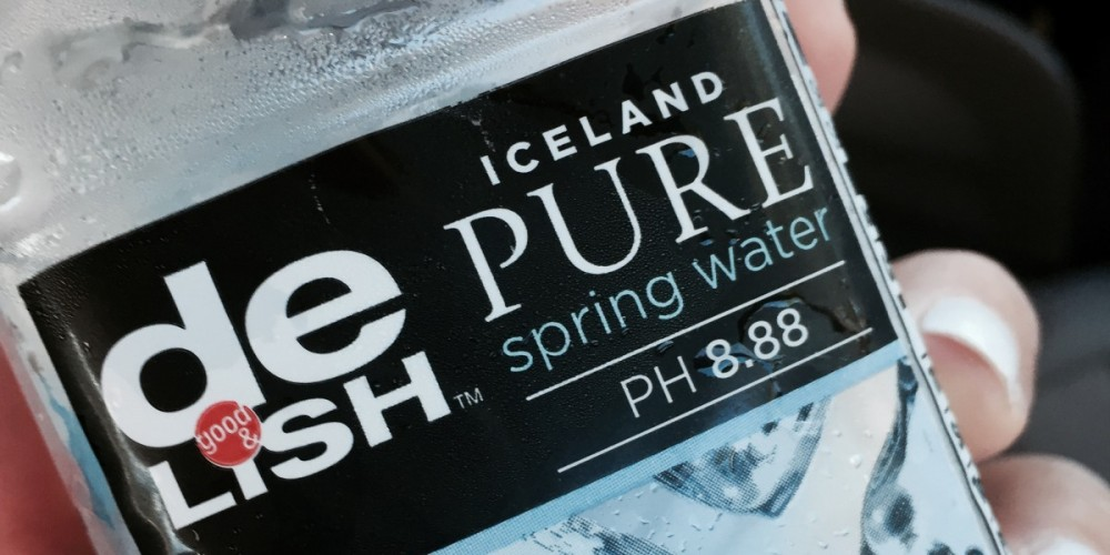 A bottle of Icelandic Spring Water teaches a lesson on mindfulness.
