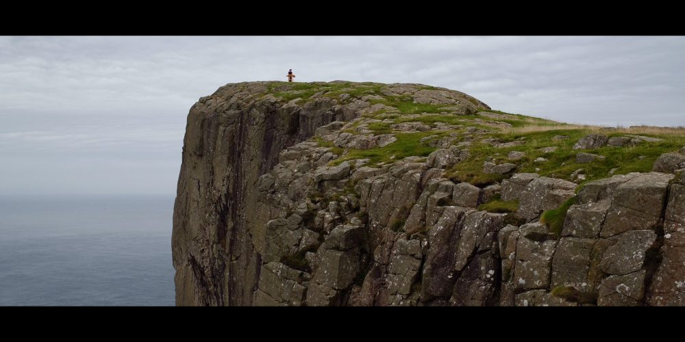 Angela Josephine on a clifftop for 40 Days in Ireland