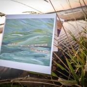 """Rush"" Inland Seas Art Card by Angela Josephine"
